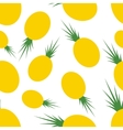 Pattern silhouette pineapples vector