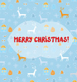 Christmas card with deers pattern vector