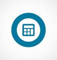 Calculator bold blue border circle icon vector