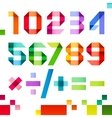 Spectral letters folded of paper ribbon colour - vector