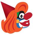Clown head vector