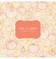 Thanksgiving line art pumkins frame seamless vector