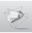 Abstract white geometric background with lines vector