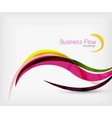 Corporate business flowing lines vector