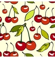 Seamless pattern with decorative cherries vector