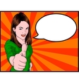 Girl giving thumbs up vector