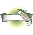 Rainbow trout banner vector