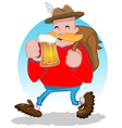 Friendly beer drinker vector