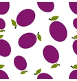 Pattern silhouette plums vector