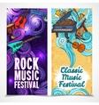 Music vertical banners vector