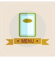 The menu for the cafe icon vector