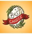 Best choice label vector