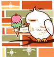 Background owl vector