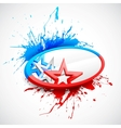 Abstract american flag background vector