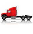 Red semi-truck vector