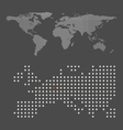 Abstract crossing world map vector