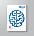 Cover book digital design brain concept template vector
