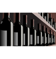 Wine bottles shelf store winery vector