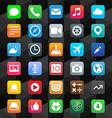 Flat app icons vector