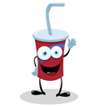 Funny fast food drink vector