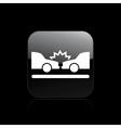 Car crash icon vector