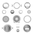 Set of sale badges labels and stickers in gray vector