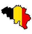 Map in colors of belgium vector