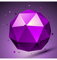 Purple 3d modern stylish abstract background vector