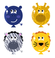 Cute animal balloon faces vector