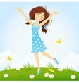 Jumping girl vector