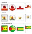 Gibraltar and akrotiri sao tome principe flag vector