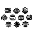 Labels set in vintage western style vector