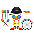 Items for the circus vector