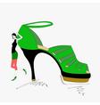 Shoe shopping vector