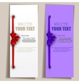 Banners with ribbons set vector