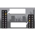 Night city message vector