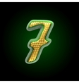 Golden and green letter 7 vector