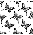 Repeat seamless pattern of butterflies vector
