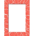 Abstract red frame with scribbles vector