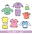 Children clothes vector
