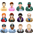 Corporation people icon set vector