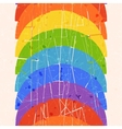 Seamless vertical pattern with rainbow vector