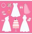 Wedding elements vector