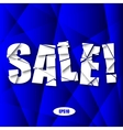 Sale cut paper poster on blue background vector