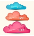 Colorful paper speech bubble numbered banners vector