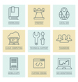 Business infographics icons developmentt and vector