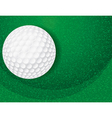 Golf ball on green textured background vector