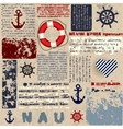 Nautical style vector