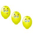 Cartoon lemon fruit set 1 vector