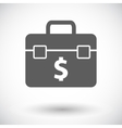 Briefcase flat single icon vector